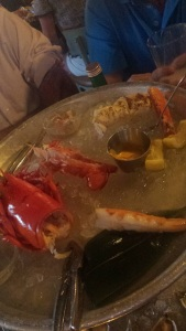The lobster we left.